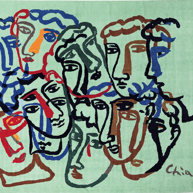 Faces Sandro Chia Cleto Munari